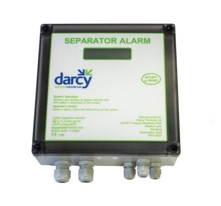 Mains separator alarm panel