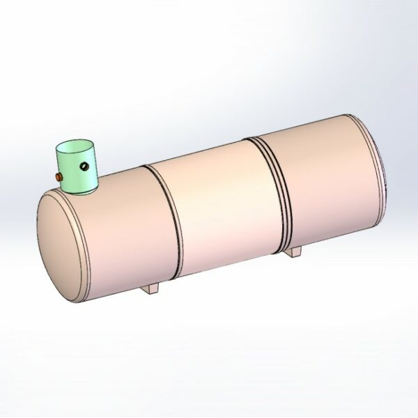 Cylindrical tank-end turret